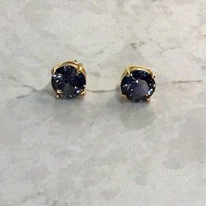 Kate Spade black gemstone studs